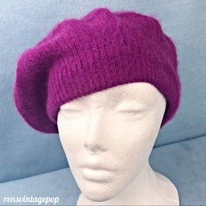 Raspberry Beret Vintage One size Fits Most